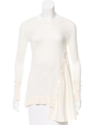SportMax Draped Silk Sweater w/ Tags None