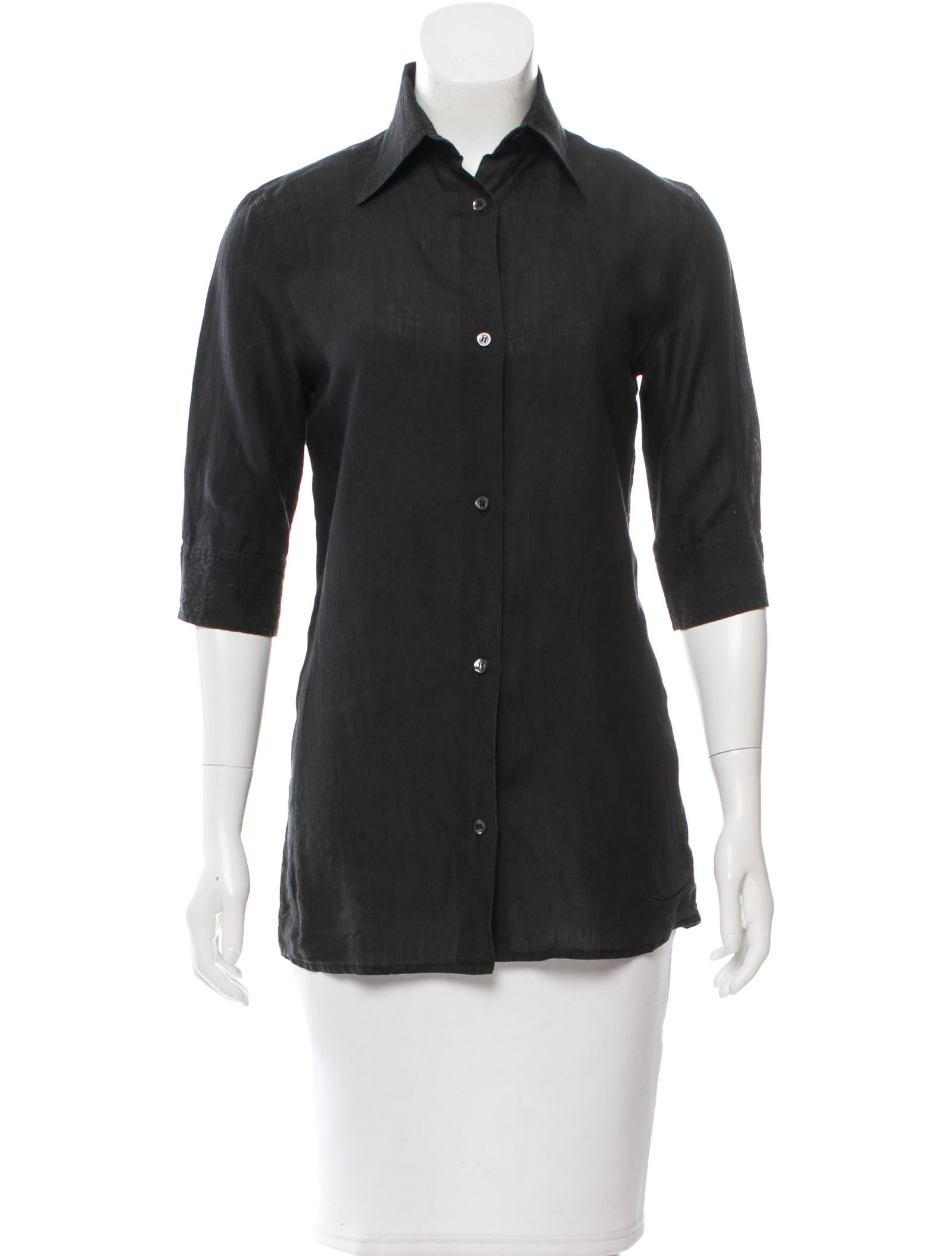 Sportmax collared button up top clothing wxs20423 for Button up collared sport shirts