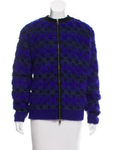 SportMax Textured Zip-Up Cardigan None