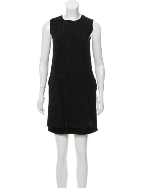 SportMax Suede Mini Dress Black