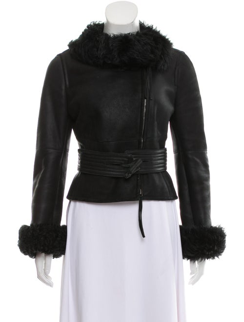 SportMax Shearling Jacket Black