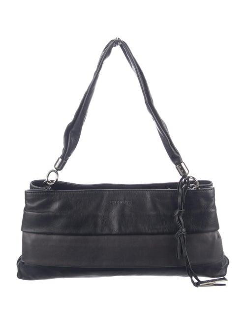 SportMax Leather Shoulder Bag Black