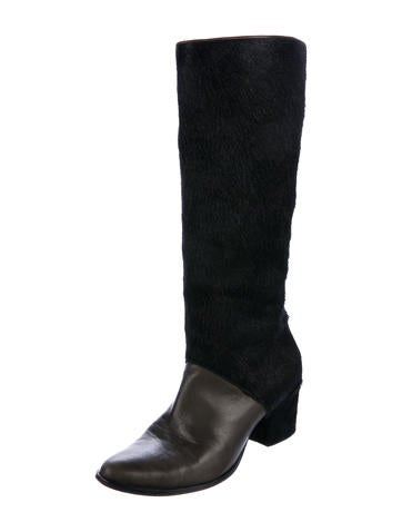 Freda Salvador Ponyhair Pointed-Toe Knee-High Boots sast online outlet best sale outlet reliable cheap excellent NIuPl8