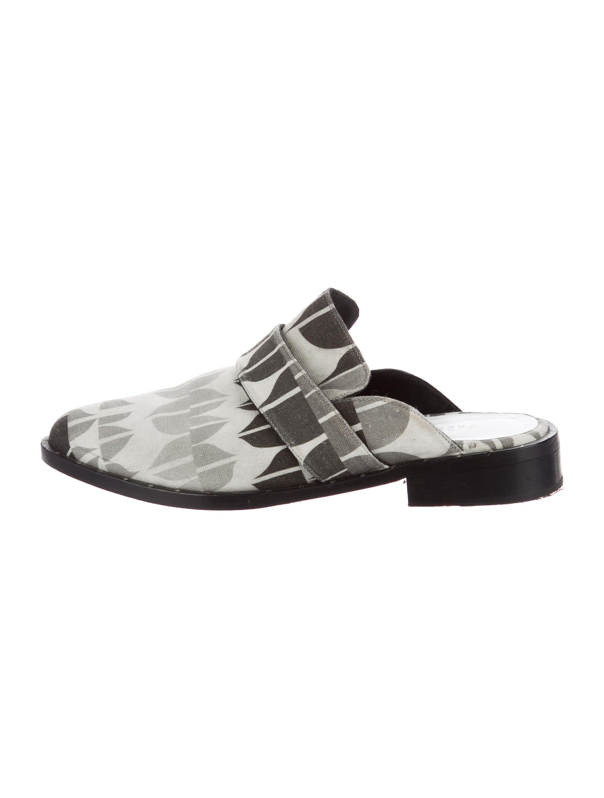 discount eastbay genuine sale online Freda Salvador Printed Canvas Mules cheap sale 2015 new 2a4DeL