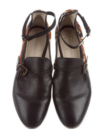 Freda Salvador Ponyhair-Paneled Leather Loafers