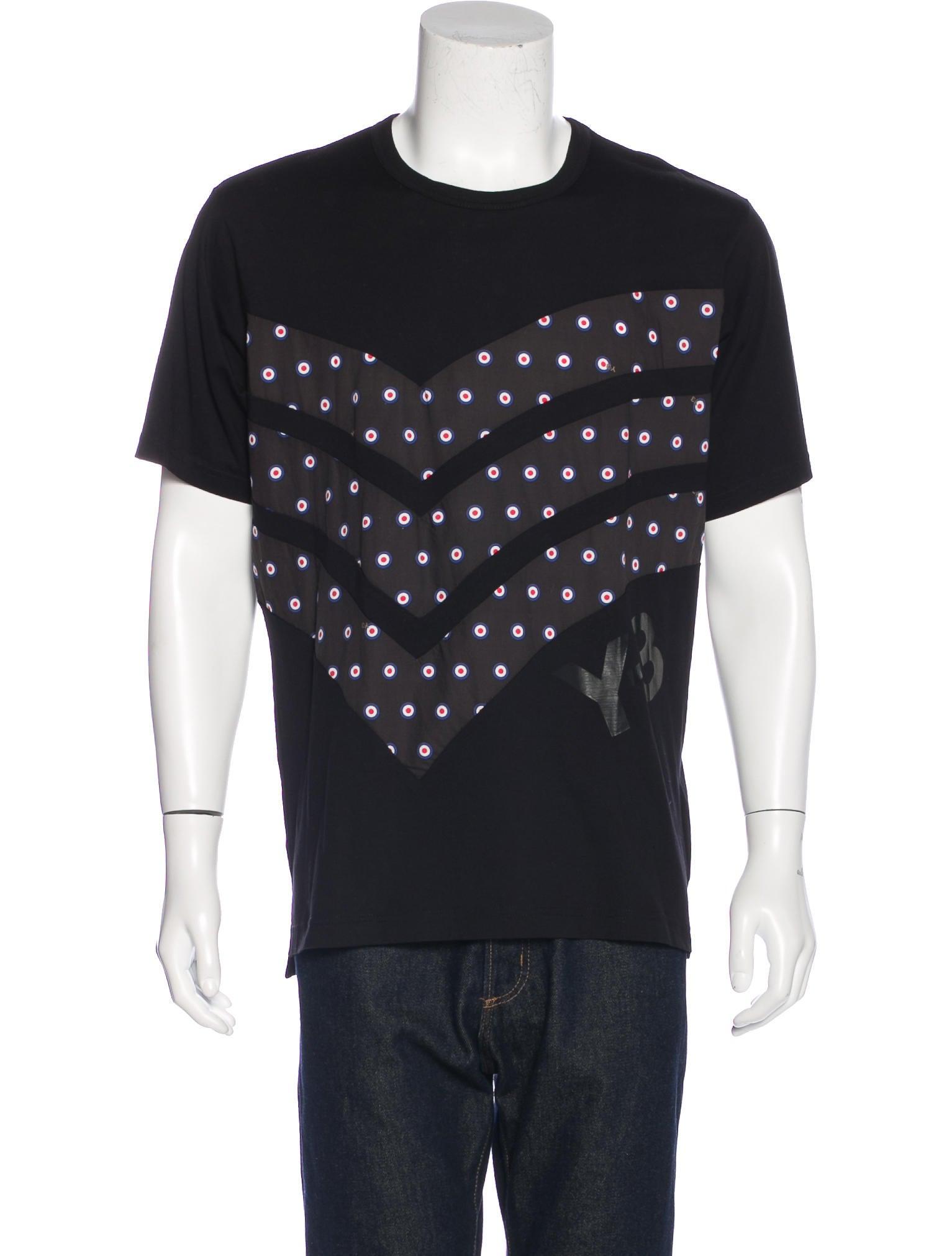 Y 3 striped polka dot t shirt w tags clothing for Three dots t shirts