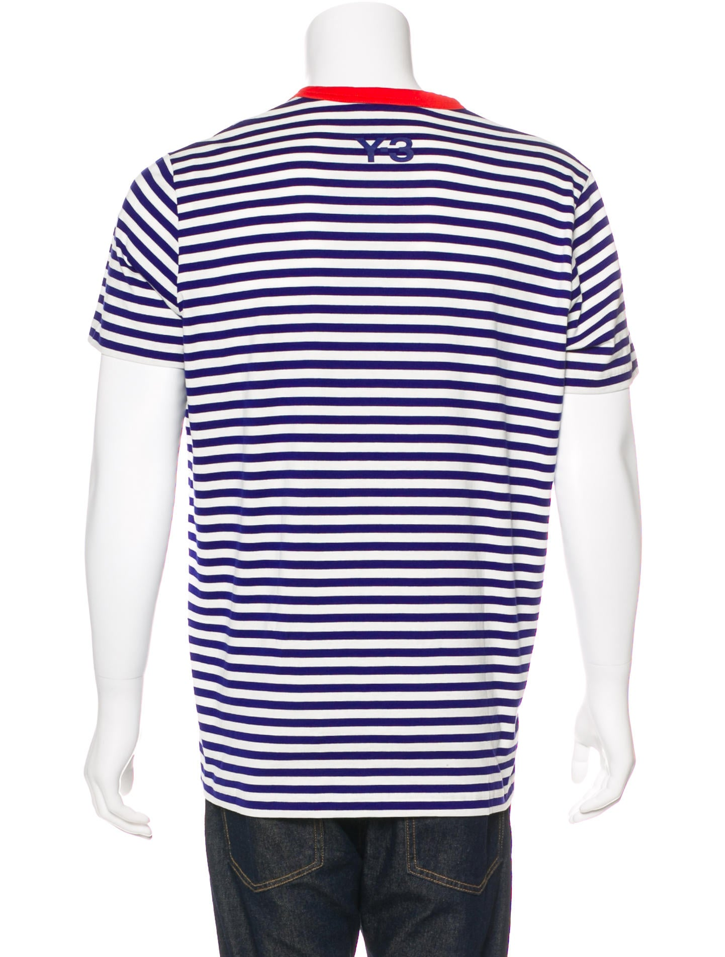 Y 3 striped scoop neck t shirt clothing wy321529 the for Scoop neck t shirt