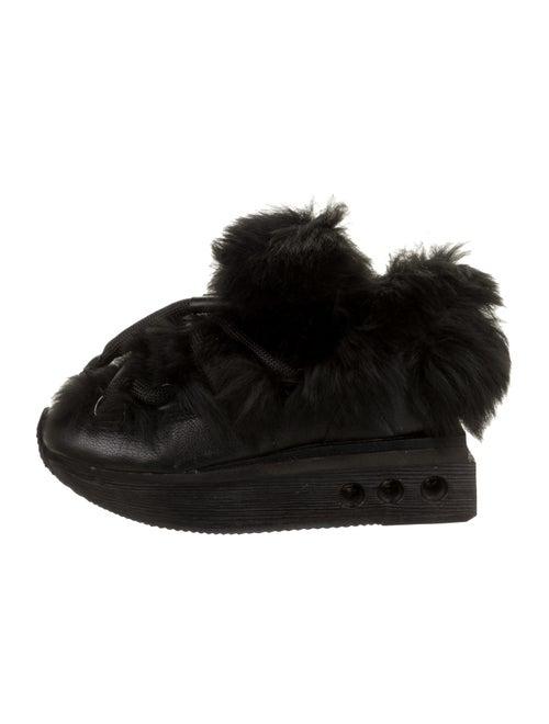 Y-3 Leather Platform Sneakers Black