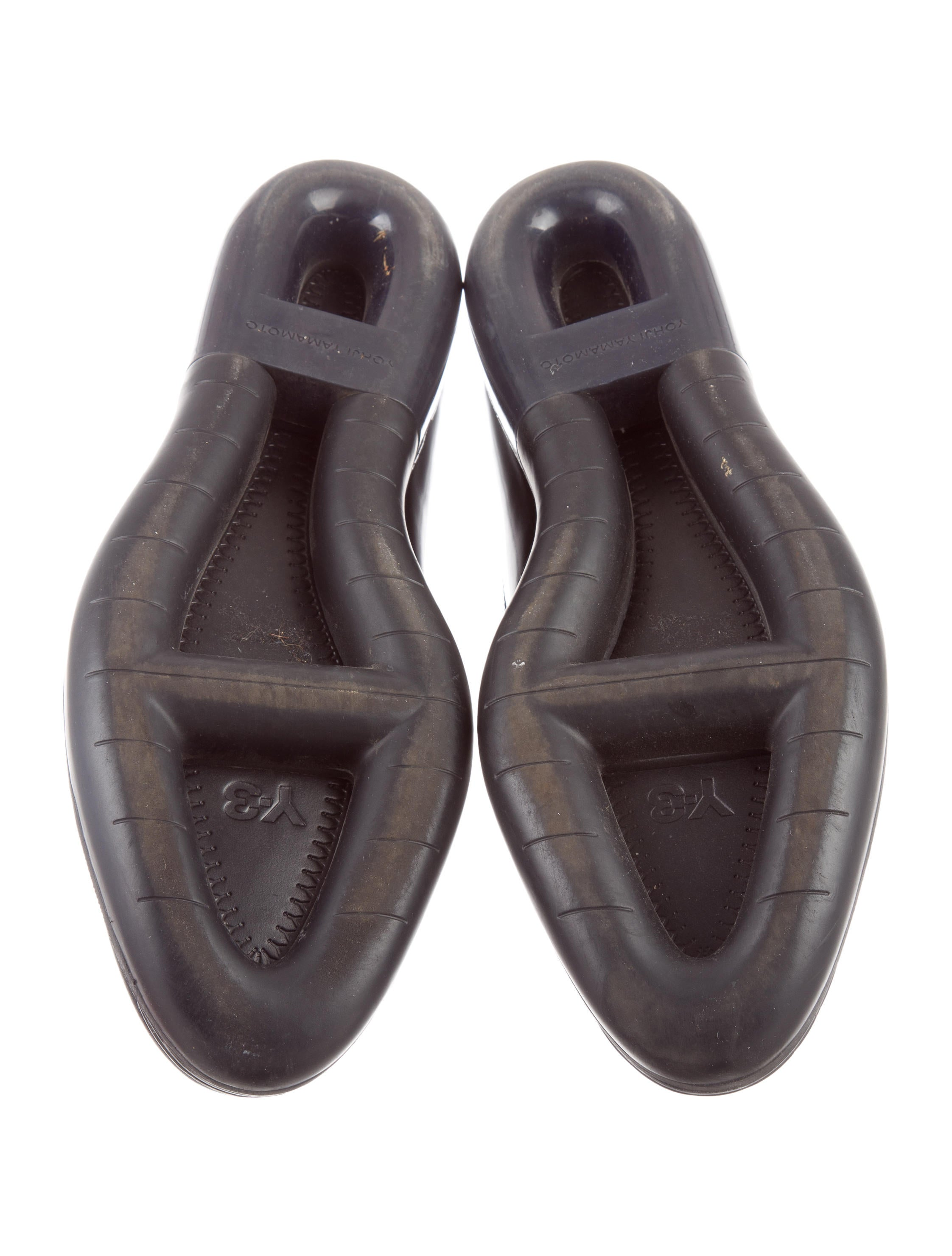Y-3 X Adidas Leather Round-Toe Loafers - Shoes - WY3AD20555   The RealReal