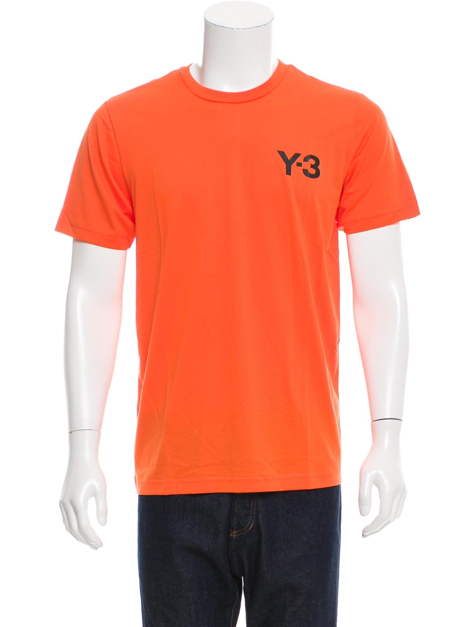 Y 3 X Adidas Logo Printed Short Sleeve T Shirt Clothing