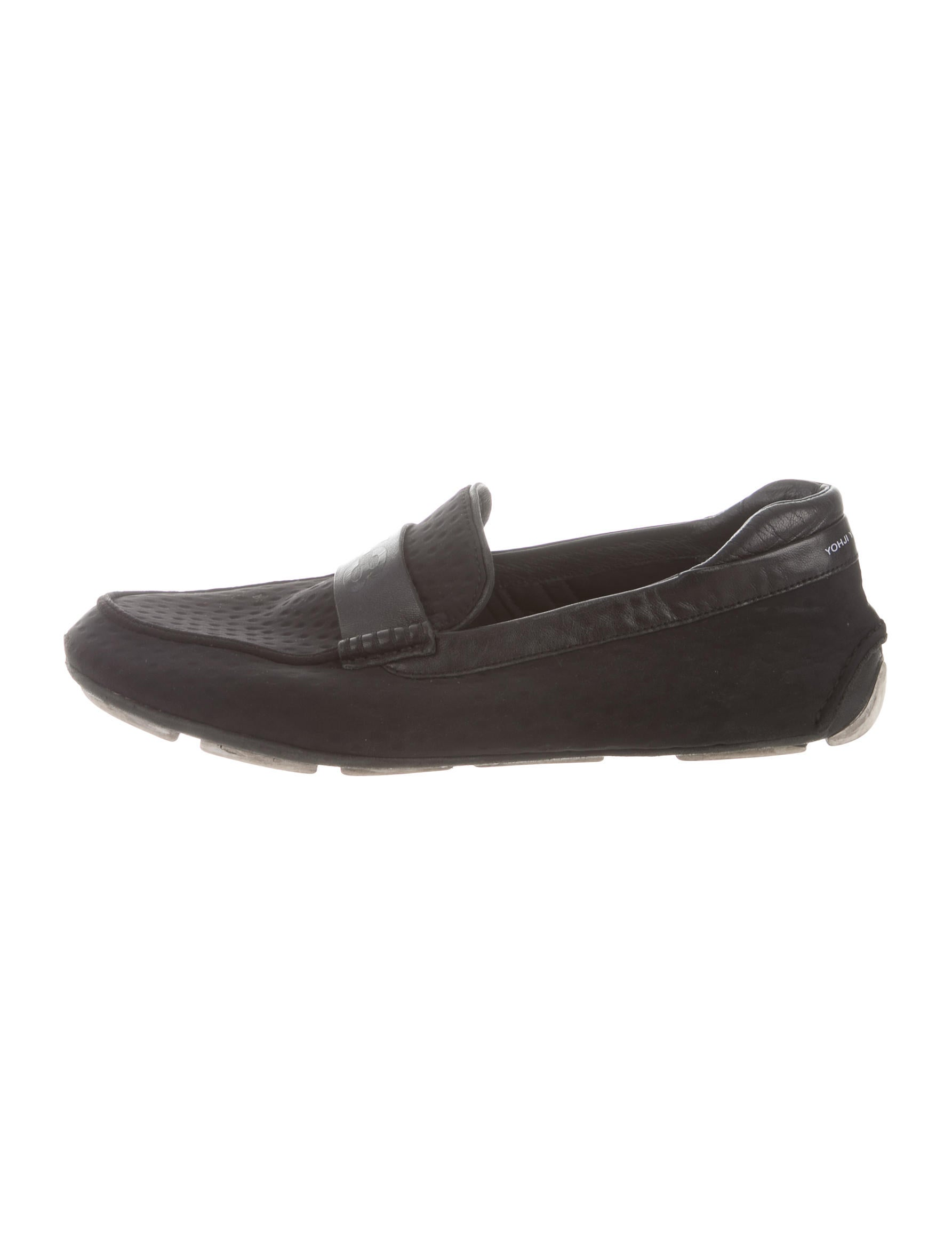 Y-3 X Adidas Logo Driving Loafers - Shoes - WY3AD20750   The RealReal