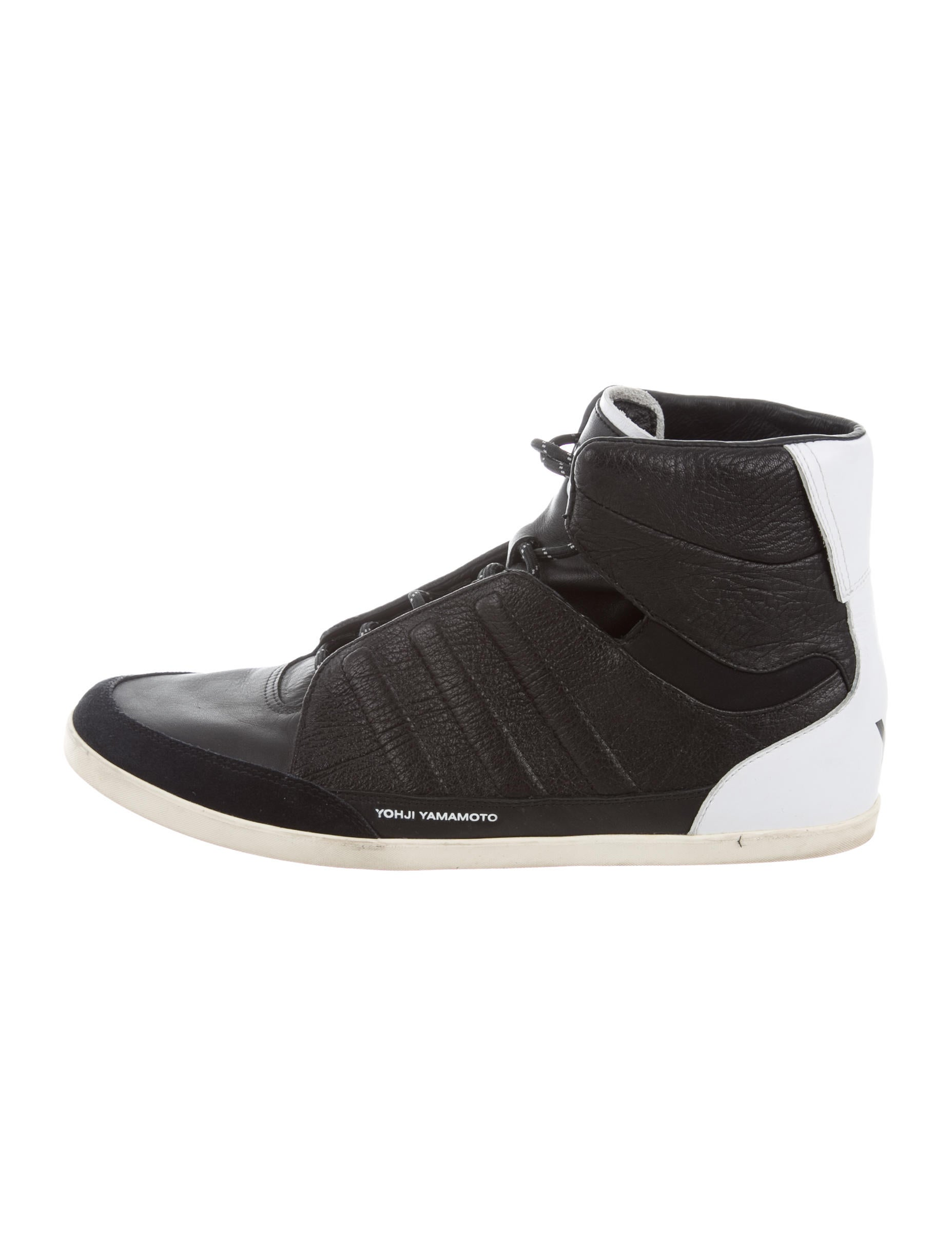 cheap manchester great sale Y-3 x Adidas Leather High-Top Sneakers cheap real eastbay top quality online classic online discount marketable DHOh3TF