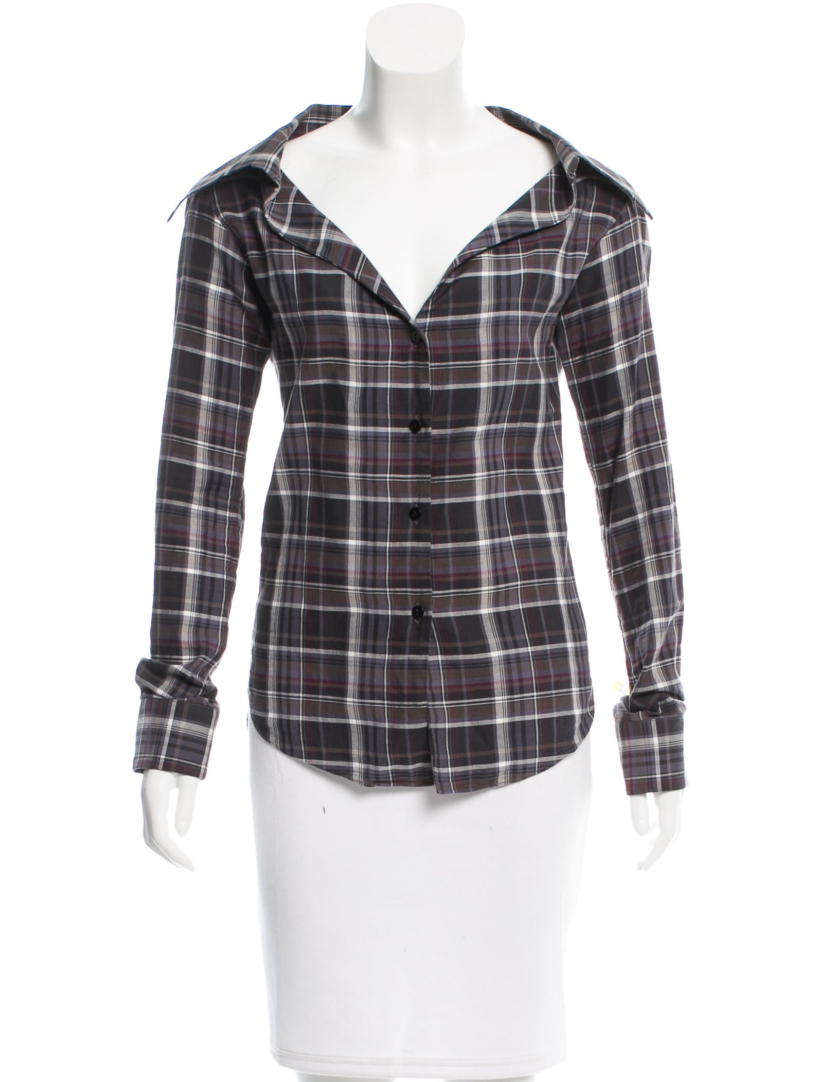Mina Olya Plaid Flannel Top Clothing Wy620018 The