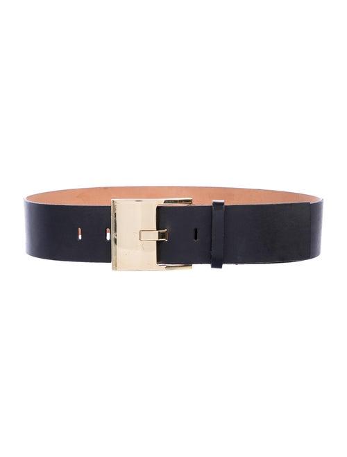 Amanda Wakeley Leather Wide Waist Belt Black