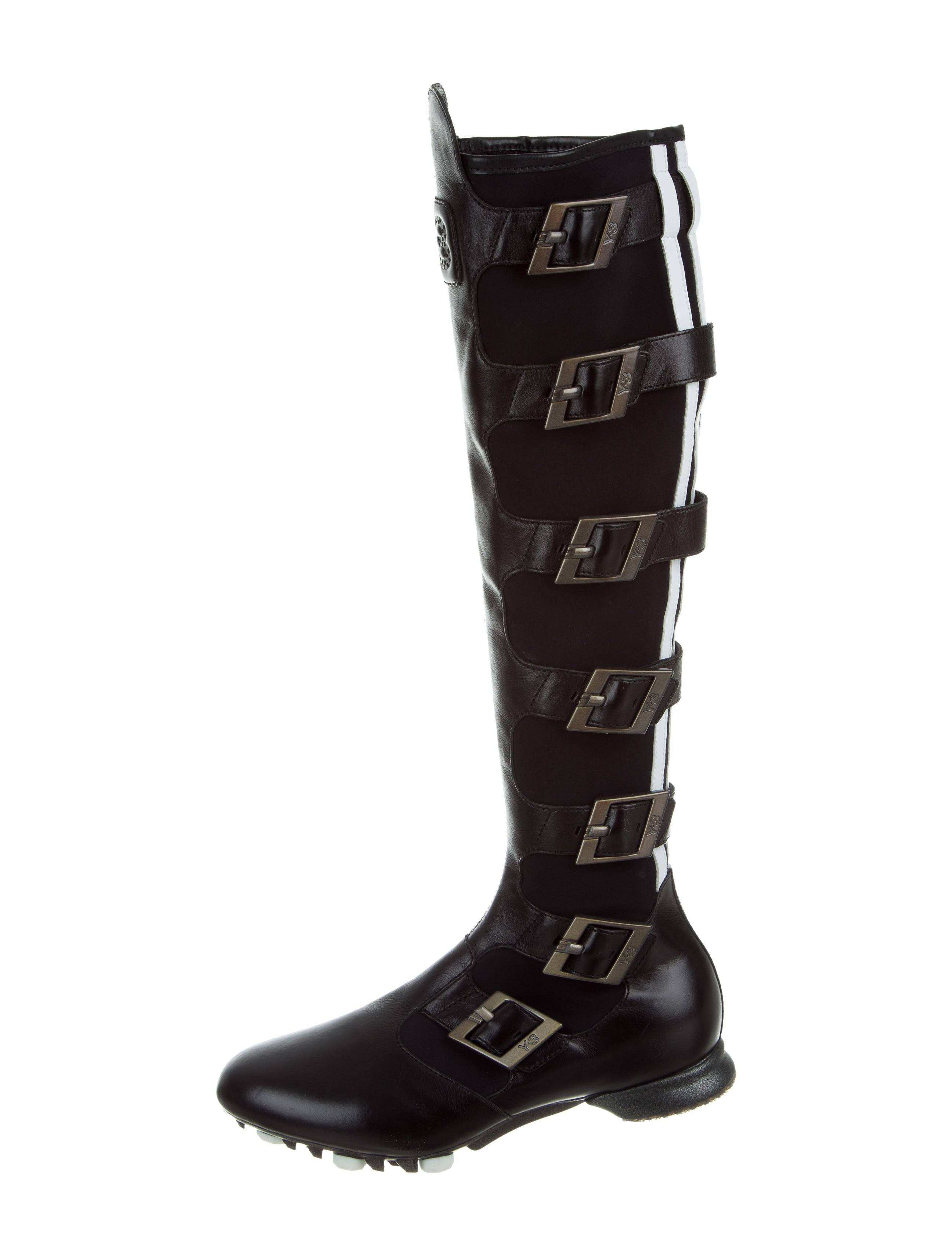 Y3 x Adidas Buckle-Accented Knee-High