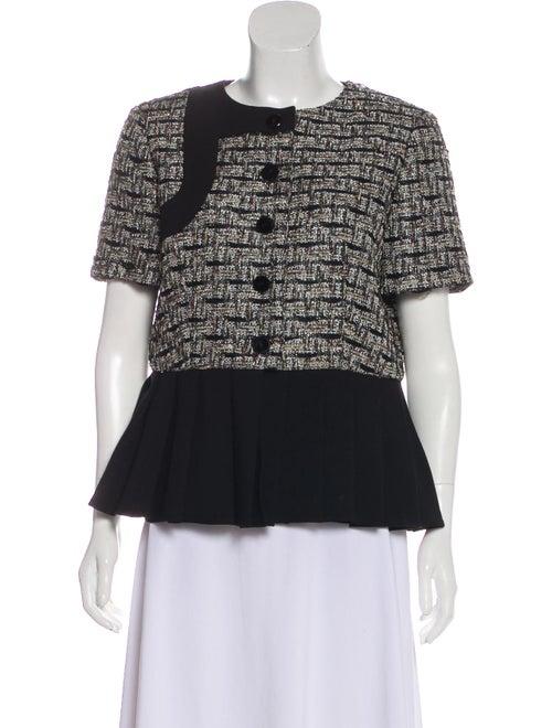YDE Patterned Short Sleeve Jacket Black