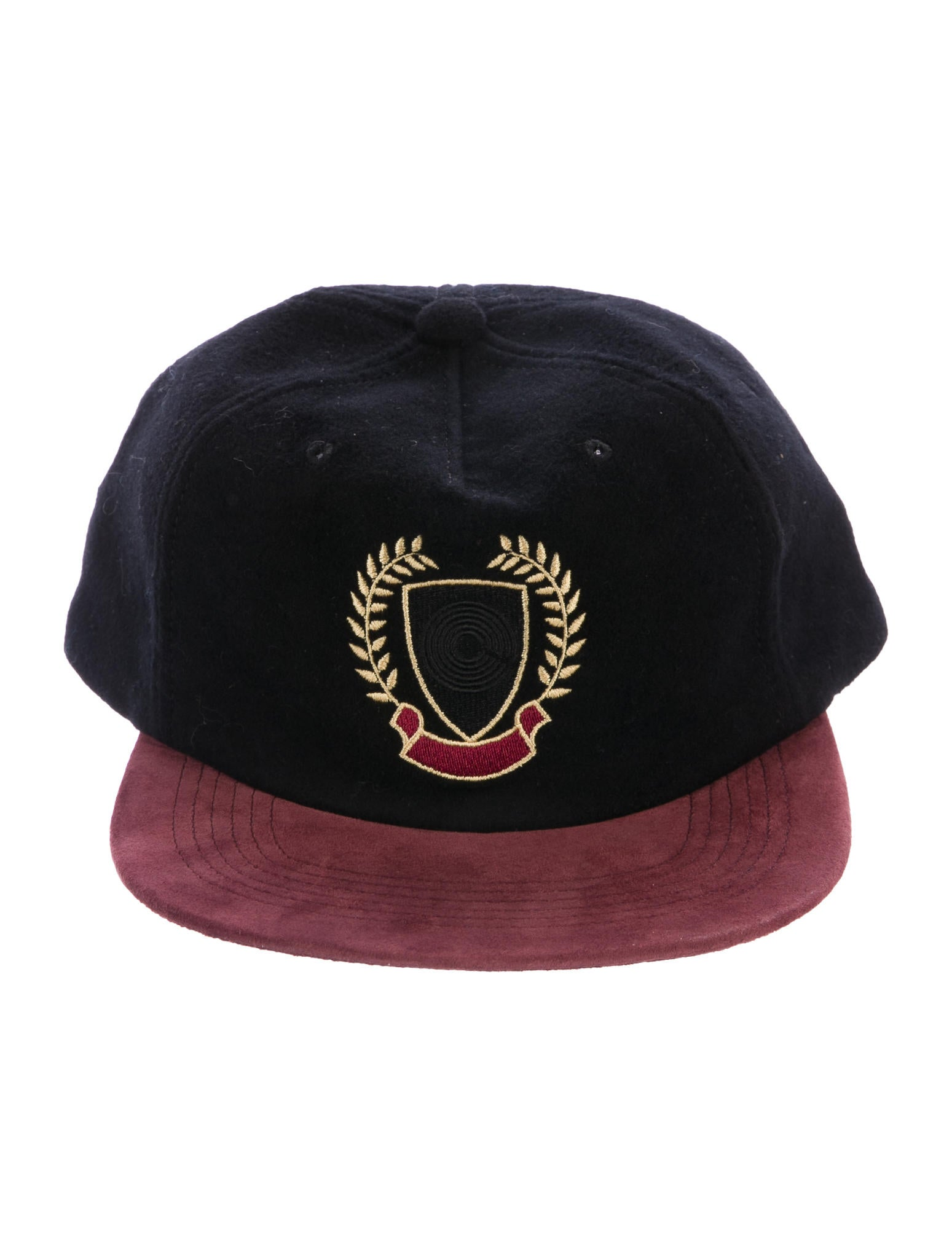Yeezy suede trimmed embroidered hat accessories