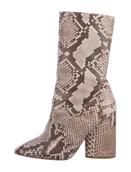 Yeezy Snakeskin Animal Print Boots