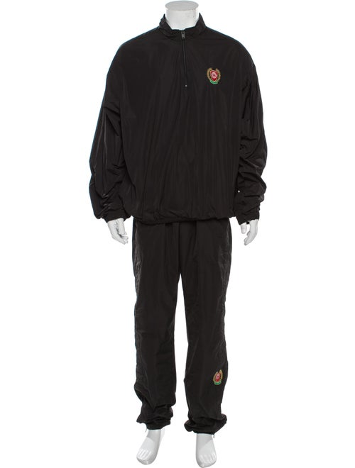 Yeezy Season 5 Embroidered Accent Lounge Set Black