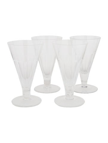 William Yeoward Set of 4 Crystal Ice Cream Glasses None
