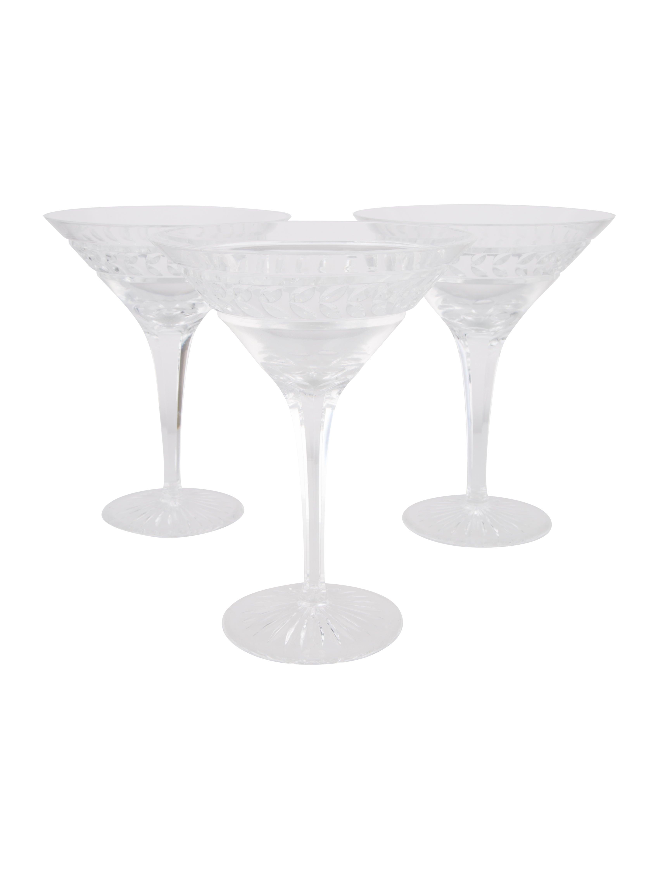 Crystal Set Of 3 Georgia Martini Glasses