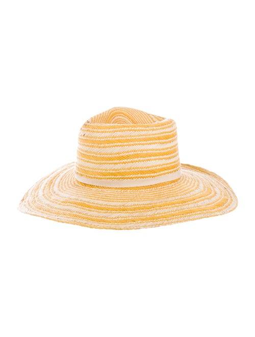 Yestadt Millinery Straw Wide-Brim Hat Yellow