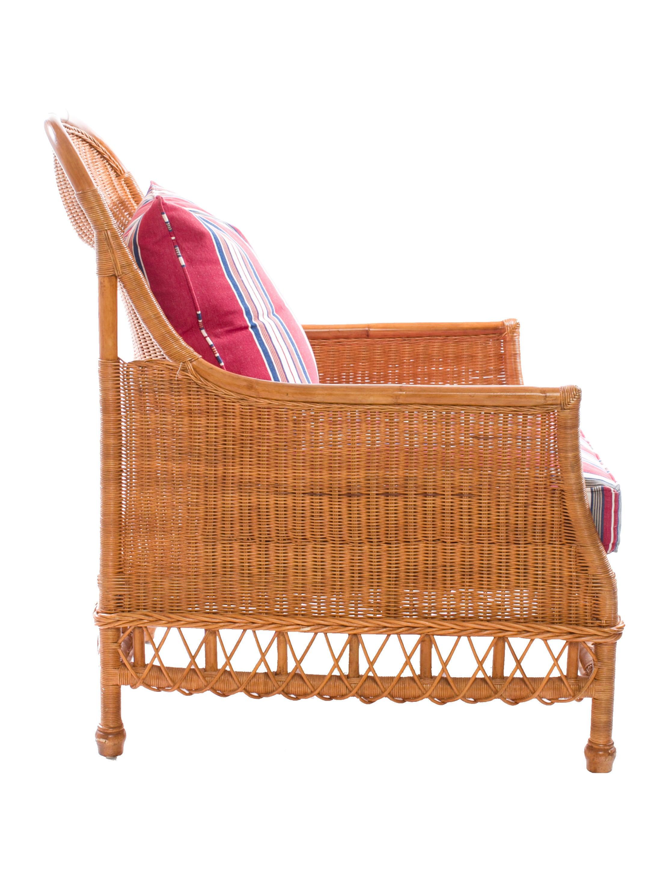 Ralph Lauren American Villa Wicker Chair Furniture