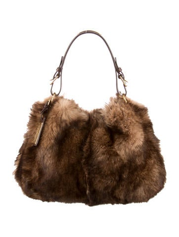 Ralph Lauren Faux Fur Shoulder Bag Handbags Wyg20558