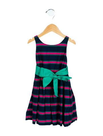 Ralph Lauren Girls' Striped A-Line Dress None