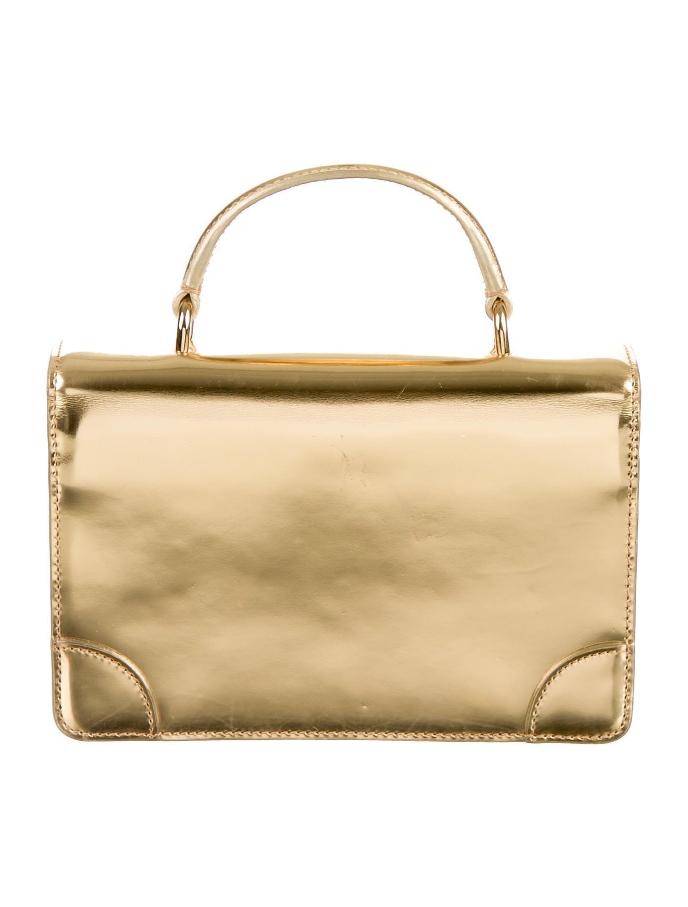 a3fb419f15fb Ralph Lauren Ricky Mini Metallic Leather Crossbody Bag - Handbags ...