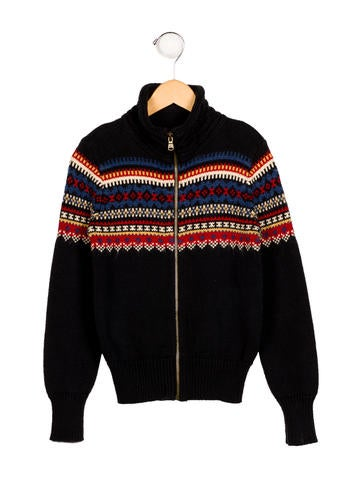 Ralph Lauren Boys' Fairisle Pattern Zip-Up Sweater None