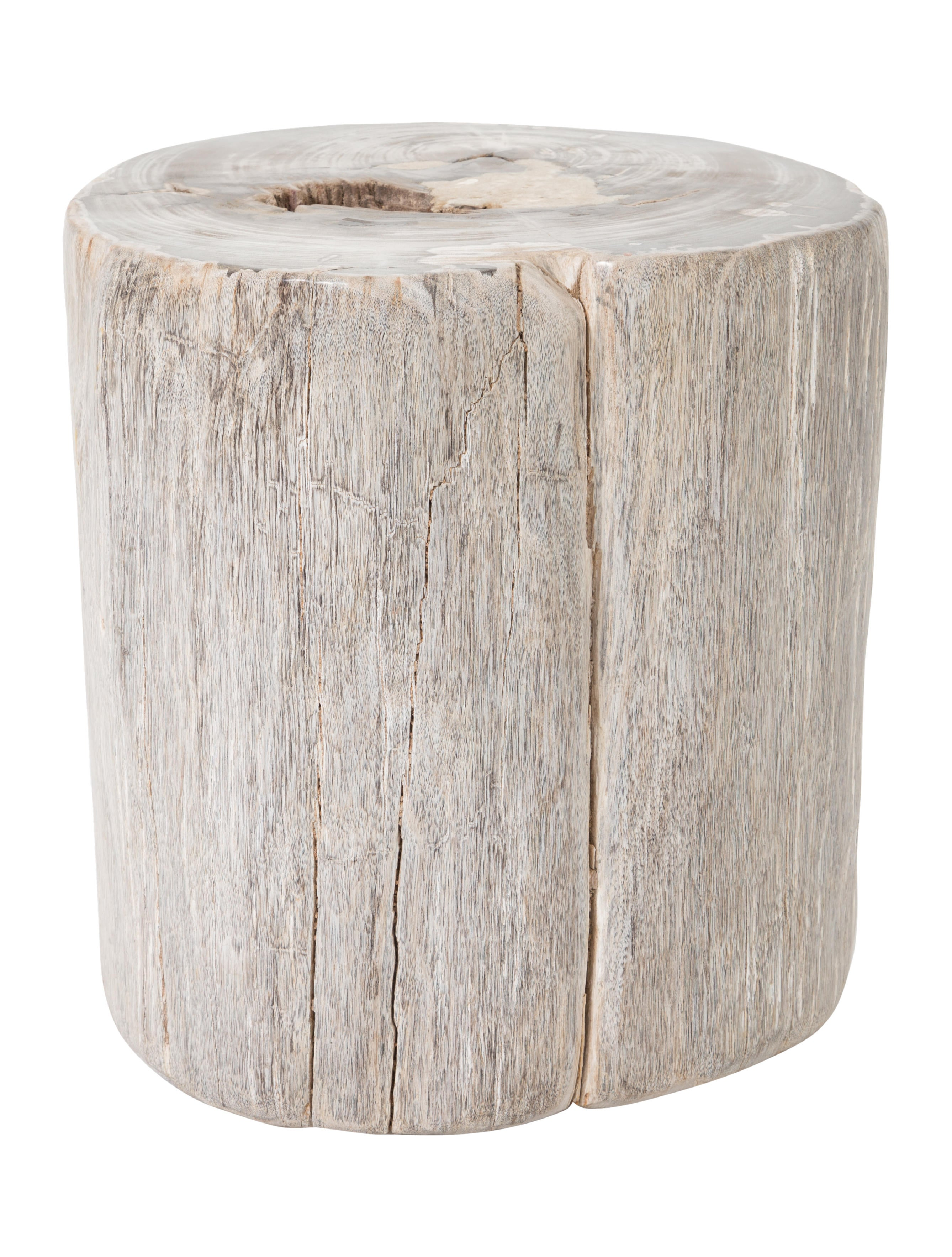 Ralph lauren petrified wood tree stump side table for Petrified wood furniture for sale