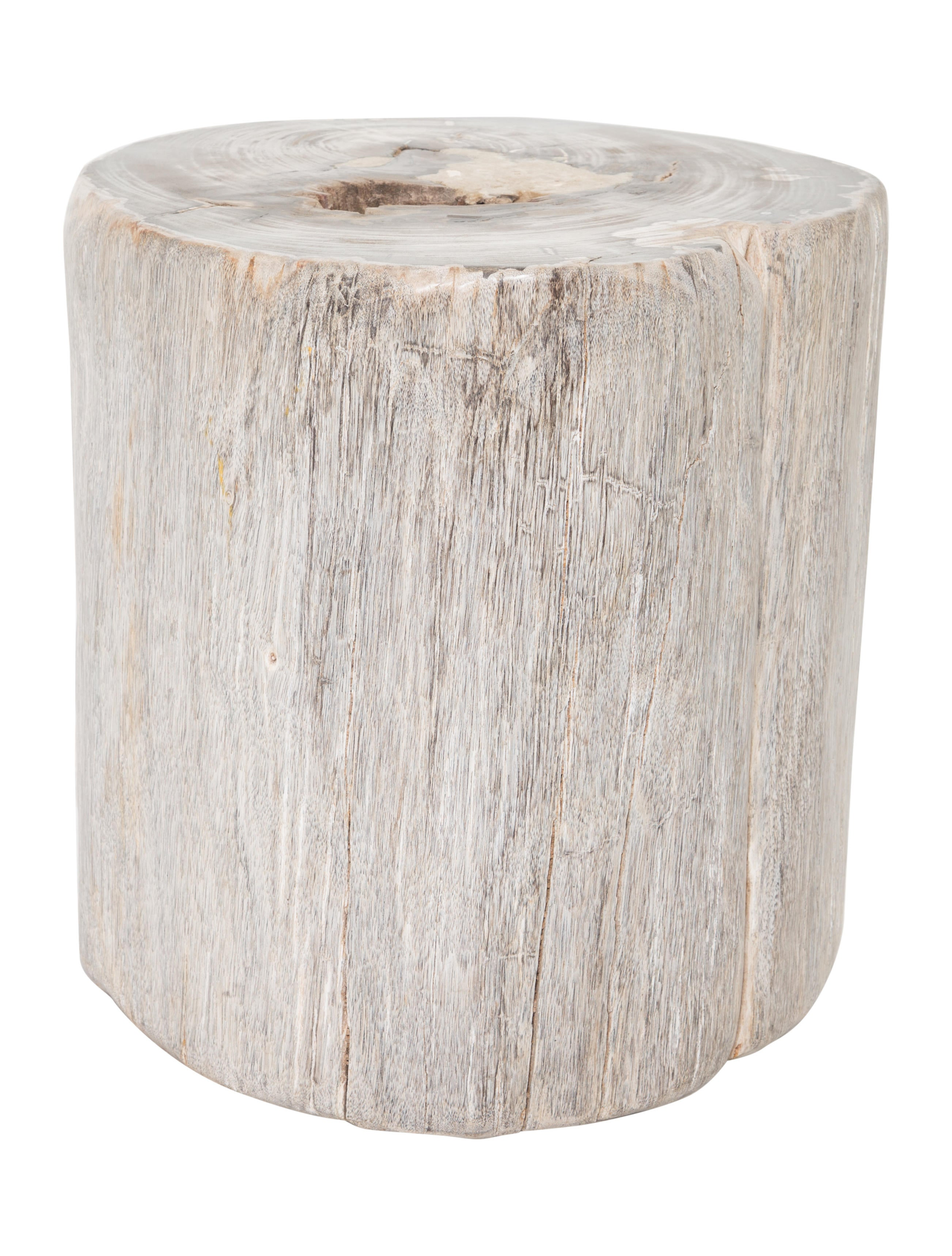 Ralph lauren petrified wood tree stump side table for Wood stump end table