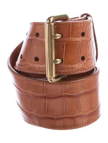 ralph lauren alligator buckle belt accessories. Black Bedroom Furniture Sets. Home Design Ideas