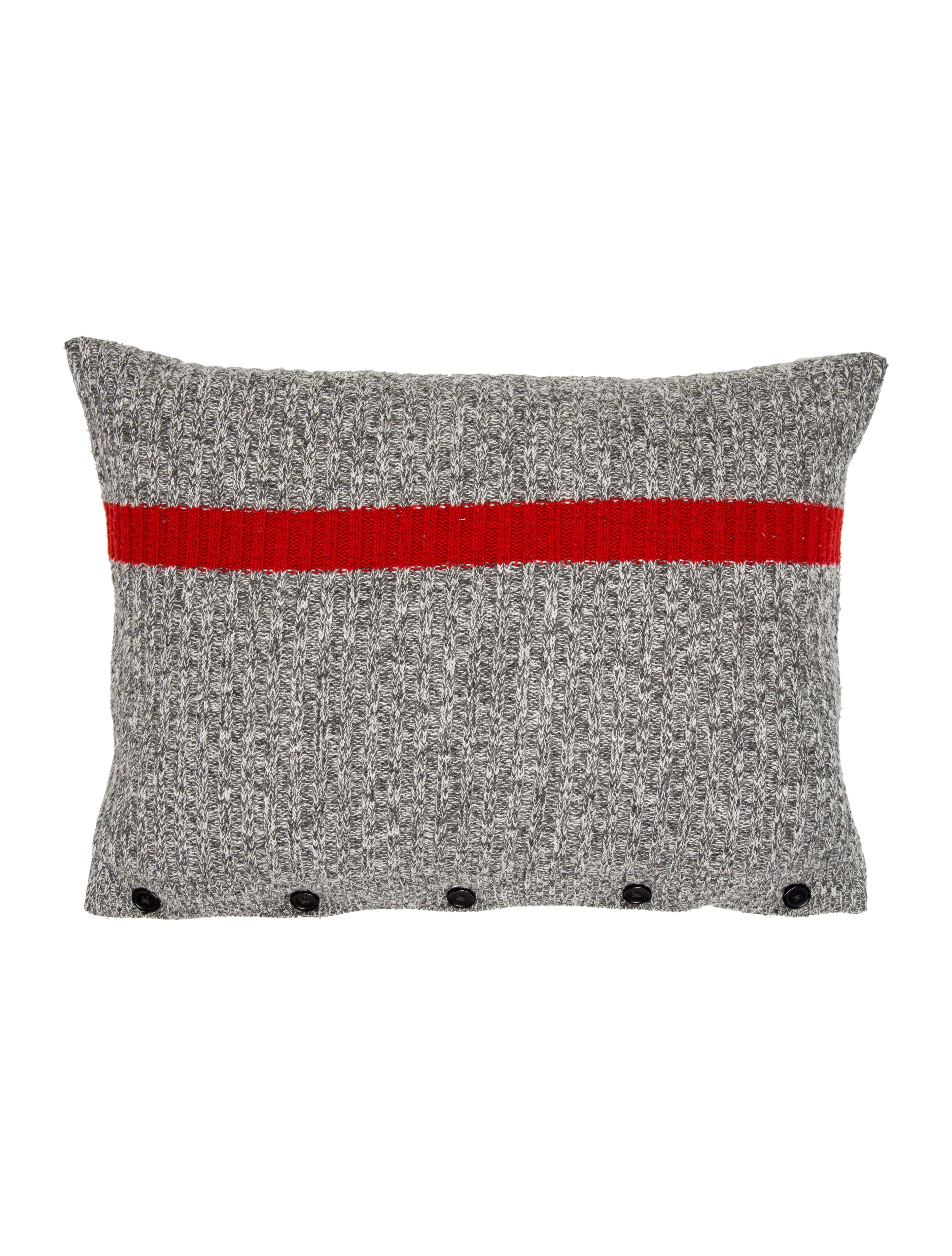 Grey Wool Throw Pillow : Ralph Lauren Lambswool Throw Pillow - Pillows And Throws - WYG21885 The RealReal