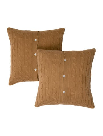 Ralph Lauren Cashmere Cable Knit Throw Pillows