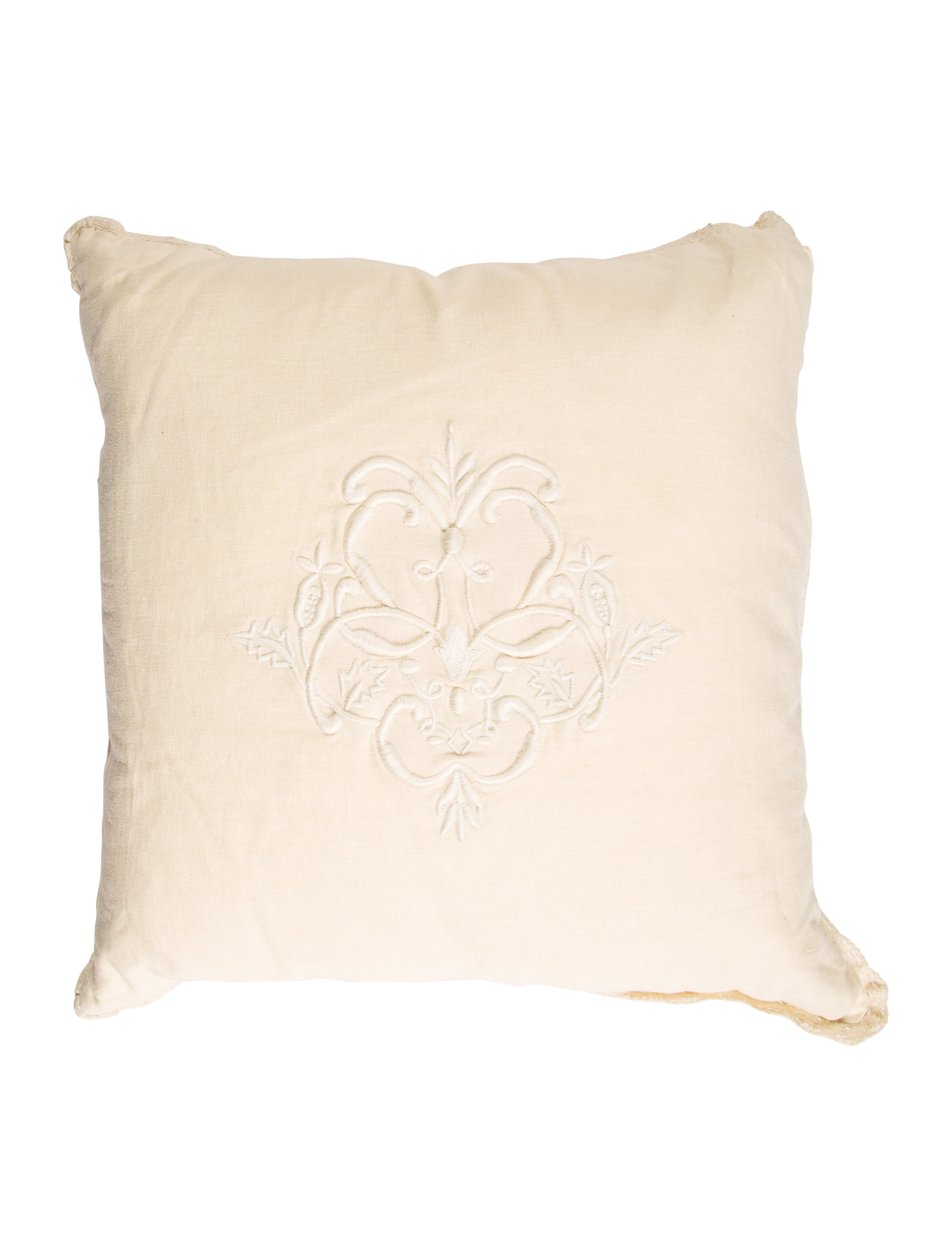 Ralph Lauren Embroidered Throw Pillow - Bedding And Bath - WYG22448 The RealReal