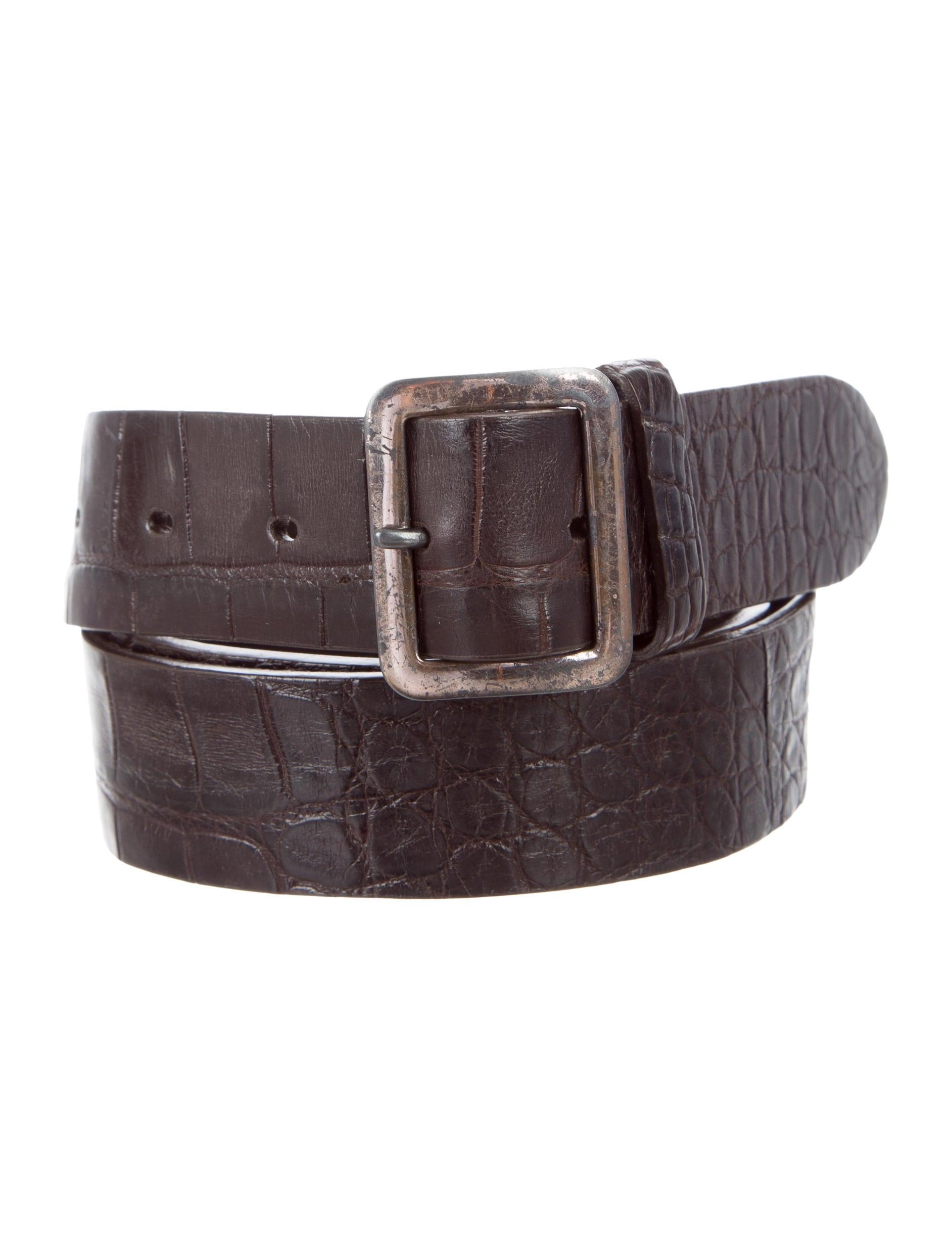 ralph lauren alligator skin belt accessories wyg22620. Black Bedroom Furniture Sets. Home Design Ideas
