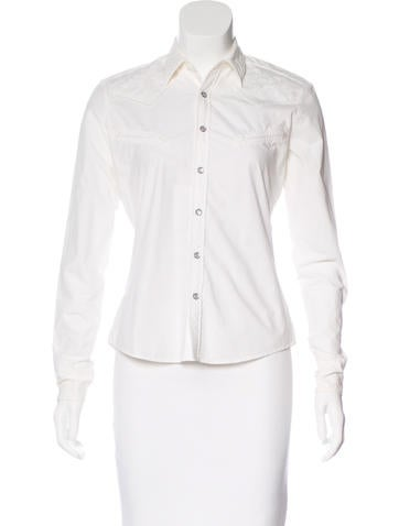 Ralph Lauren Embroidered Button-Up Top None