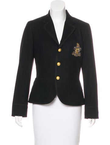 Ralph Lauren Appliqué Virgin Wool Blazer None