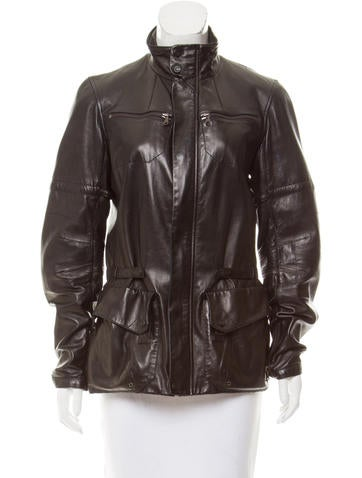 Ralph Lauren Long Sleeve Leather Jacket None