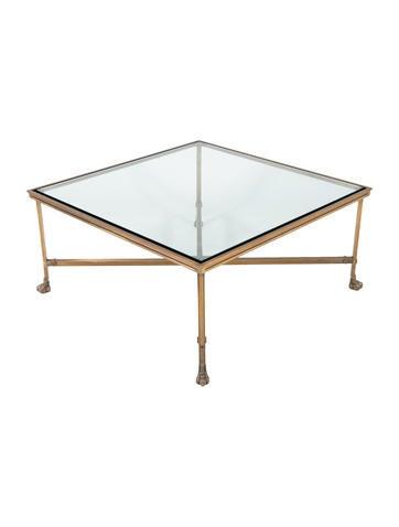 Ralph Lauren Glass Coffee Table Furniture Wyg23279 The Realreal