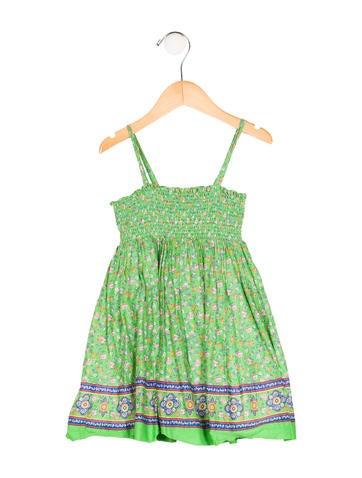 Ralph Lauren Girls' Floral A-Line Dress None