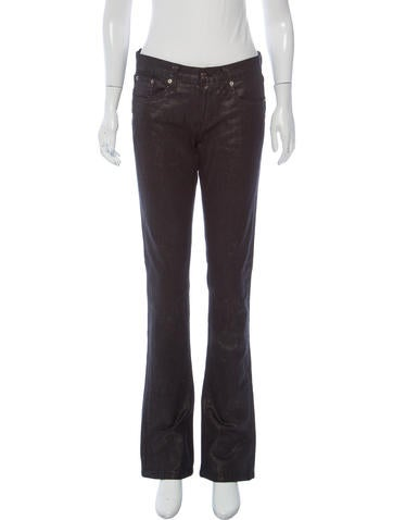 Ralph Lauren Metallic-Accented Mid-Rise Jeans None