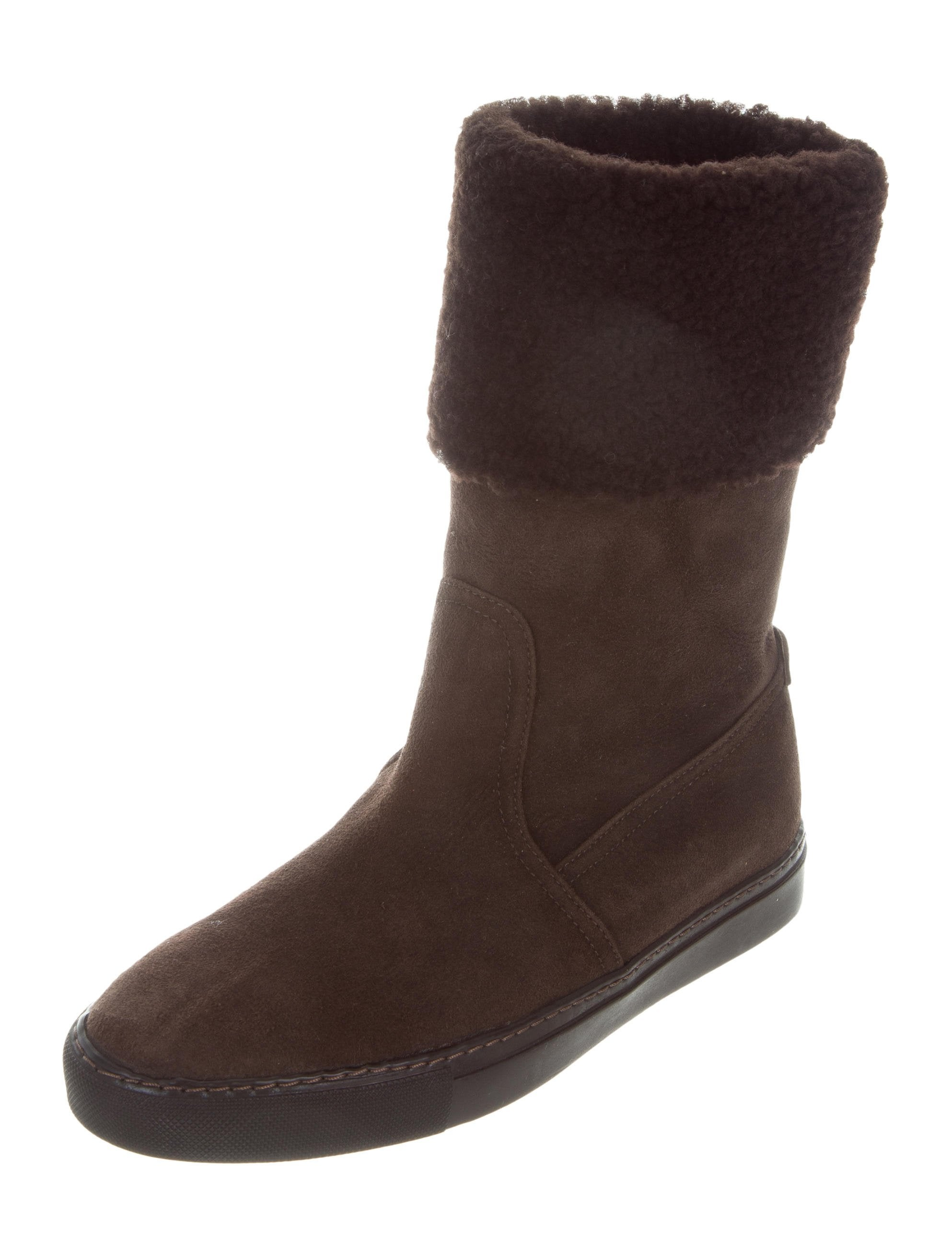 ralph suede fold ankle boots shoes