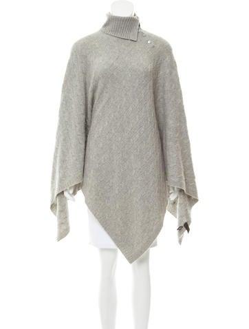 Ralph Lauren Cable Knit Cashmere Poncho None