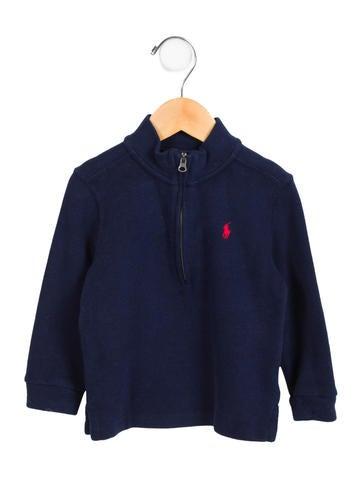 Ralph Lauren Boys' Logo Mock Neck Sweater None