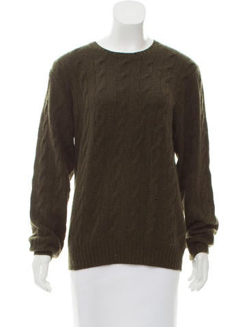 Ralph Lauren Cashmere Cable Knit Sweater None