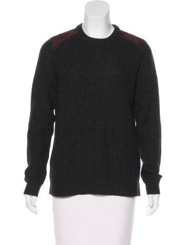 Ralph Lauren Cashmere & Leather Sweater None