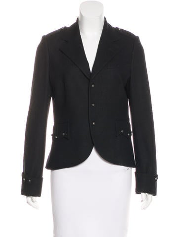 Ralph Lauren Wool Embroidered Blazer None